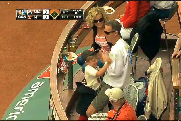 Kid Goes Nuts After Dad Misses Foul Ball