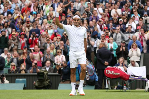 Roger Federer Defeats Victor Hanescu to Advance at 2013 Wimbledon