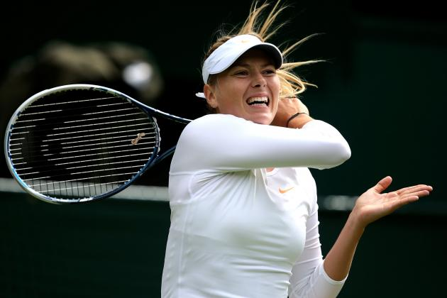 Maria Sharapova Defeats Kristina Mladenovic to Advance at 2013 Wimbledon