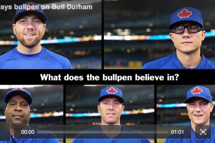Blue Jays Recreate Bull Durham Speech