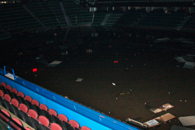 Calgary Flames Arena Flooded