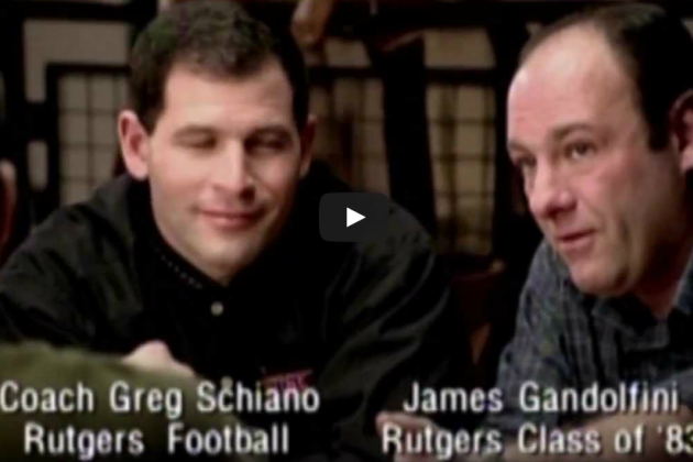 Greg Schiano and James Gandolfini Rutgers Commercial Surfaces