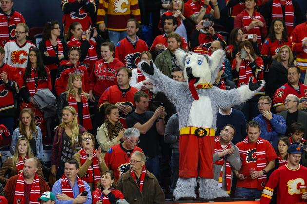 Worker Cleaning Flooded Saddledome Happens Upon Head of Flames' Harvey the Hound