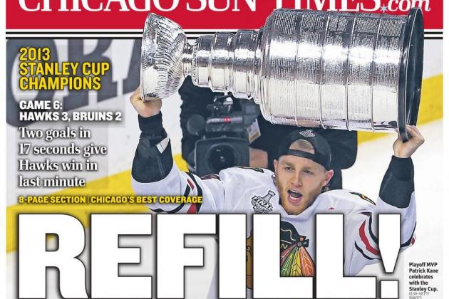 Tomorrow's Chicago Sun-Times Cover