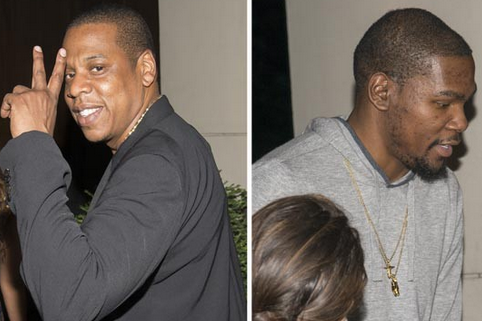 Kevin Durant and Jay-Z Go Clubbing