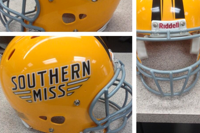 Southern Miss Unveils New Helmet Decals