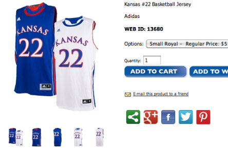 Andrew Wiggins' Jersey Already on Sale at Kansas