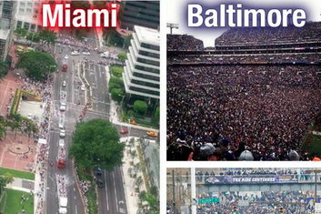 Ravens Take on Heat Fans over Parade Attendance
