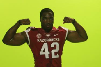 Arkansas Football: No Gradient Numbers on New Unis (PHOTO)