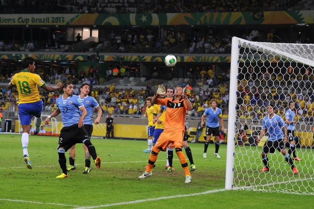 Paulinho's Impressive Header at 86' Lifts Brazil over Uruguay 2-1