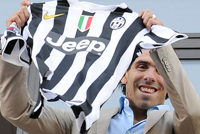 Carlos Tevez Completes £7.6m Move from Manchester City to Juventus