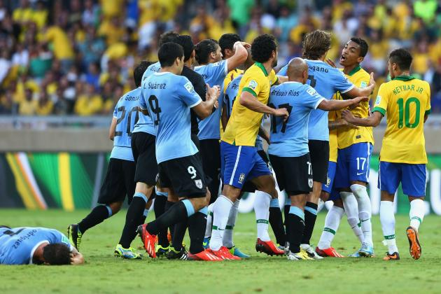 Defeated by Brazil, Uruguay Bow Out of Confederations Cup with Heads Held High