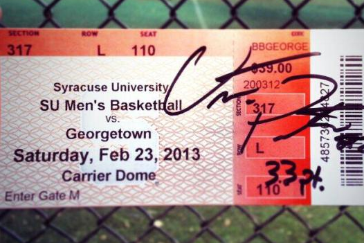 Otto Porter Takes a Shot at Syracuse Signing a Ticket Stub