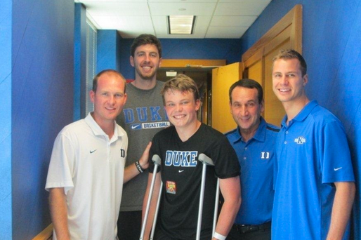 Duke Basketball: Coach K Cheers Up Injured Camper (PHOTO)