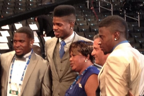 John Calipari with Nerlens Noel and Family at NBA Draft