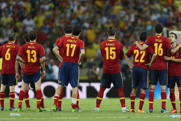 Brazil vs. Spain: Key Issues La Roja Face in 2013 Confederations Cup Final