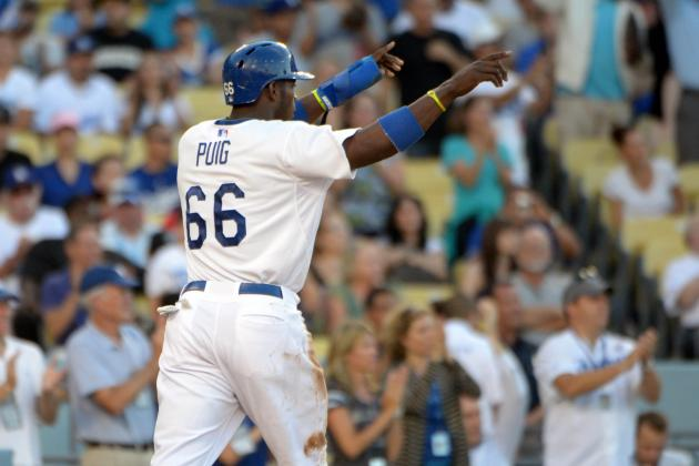 Yasiel Puig Lifts Dodgers to 6th Straight Victory with 6-4 Win over Phillies