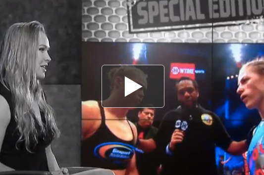 Ronda Rousey Breaks Down Her Infamous Armbar (Video)
