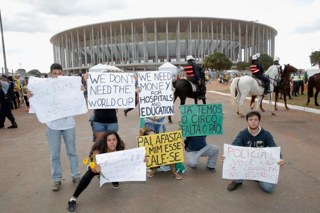 Brazil's Preparations for World Cup, Olympics Overshadowed by Protests