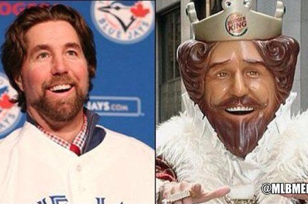 Blue Jays Pitcher R.A. Dickey May in Fact Be the Burger King