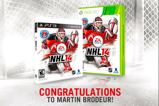 Martin Brodeur Chosen as Cover Athlete for NHL '14