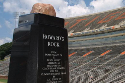 Clemson Fans on Twitter in Shock over Howard's Rock Vandal