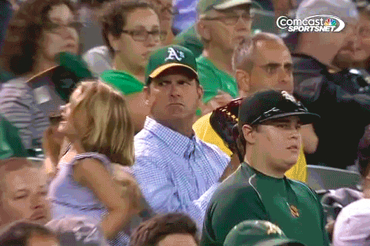 Jim Harbaugh Looks as Angry as Ever at Oakland Athletics Game