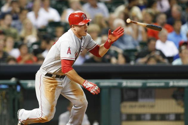 Mike Trout and Peter Bourjous out Today vs. Astros