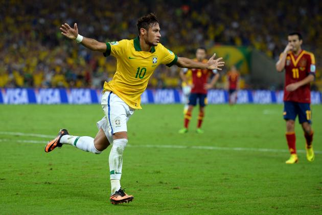 GIF: Neymar Blast Gives Brazil 2-0 Lead vs. Spain