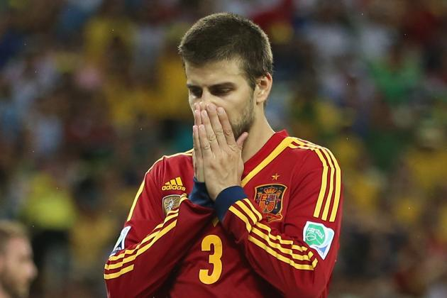 Pique Shown Straight Red, Spain Down to 10 Men in Confed Cup Final