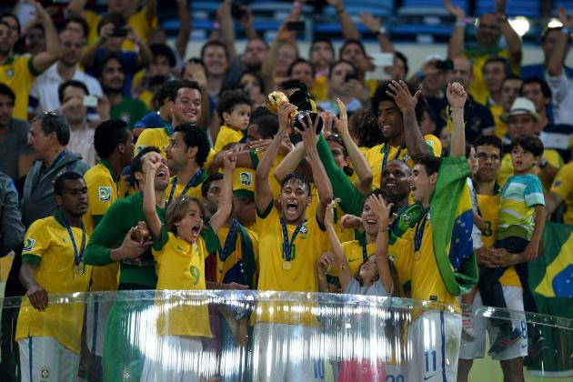 Neymar and Fred Score as Brazil Defeats Spain 3-0 in Confederations Cup Final