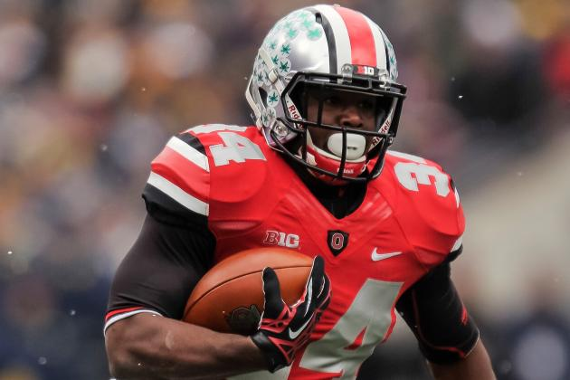 Hyde Out to Be 1st RB to Hit 1,000 Yards for Meyer