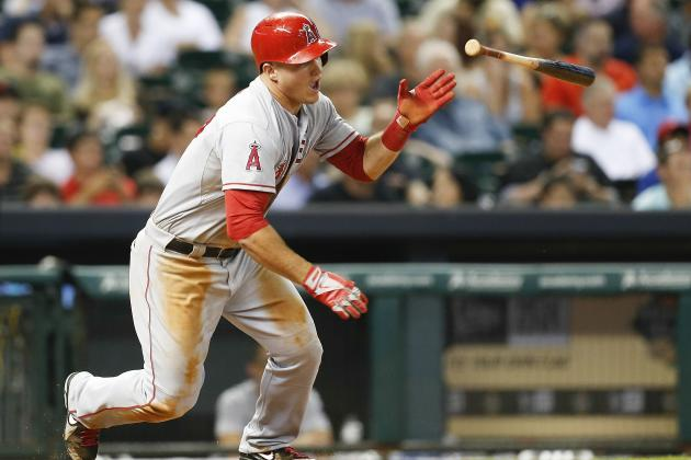 Mike Trout out with Minor Hamstring Issue
