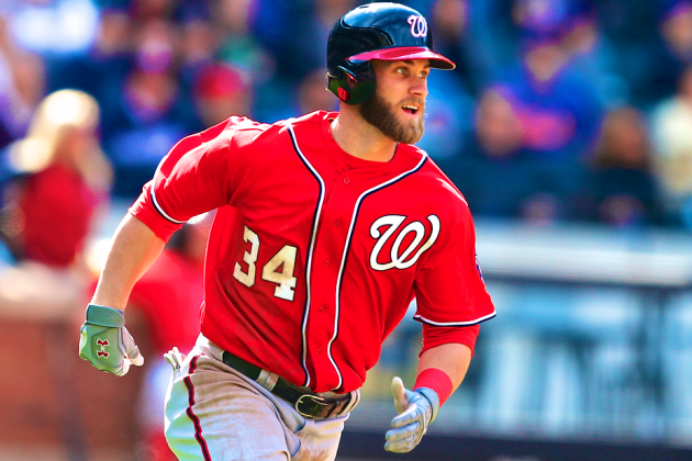 Bryce Harper Returns to Nationals For First Time Since Knee Injury