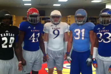 Photos: Kansas Jayhawks Release New Adidas Football Uniforms