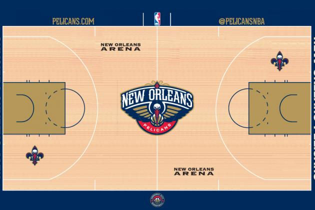 New Orleans Pelicans Brand New Home Court Revealed For 2013-14 Season
