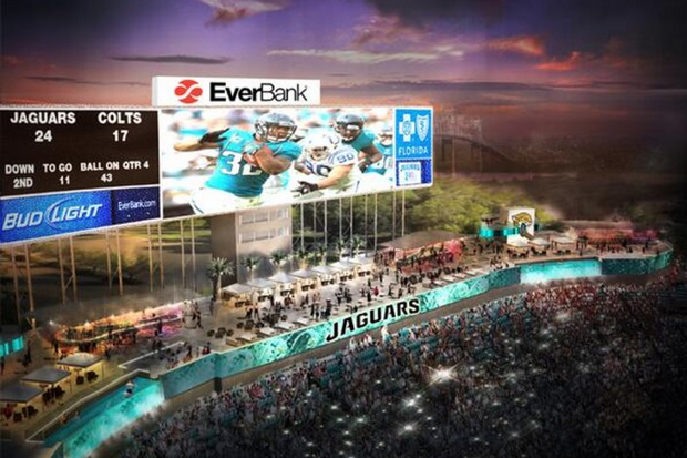 Jags May Show Continuous RedZone on New Videoboards