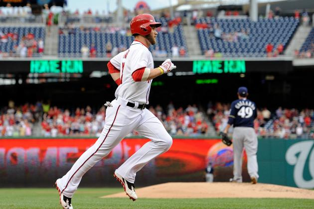 Bryce Harper Delivers, Nationals Beat Brewers 10-5