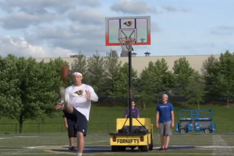 St. Louis Rams Punter Made a Trick-Shot Video with Dude Prefect