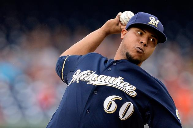 Wily Peralta Leaves Game vs. Nationals in Bottom of 6th Inning