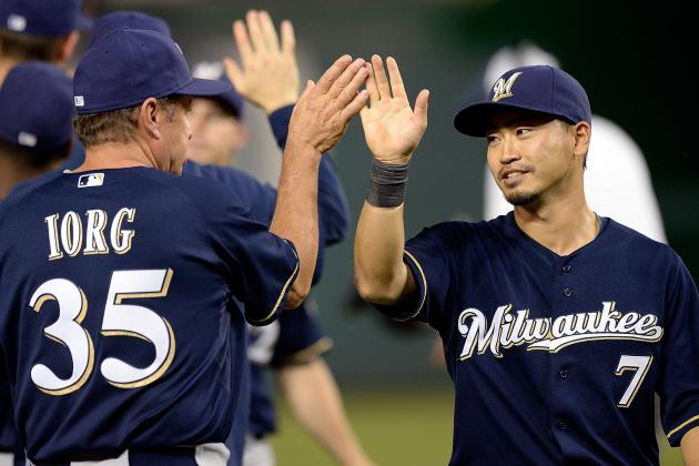 Peralta Good, Then Injured as Brewers Beat Nats 4-0