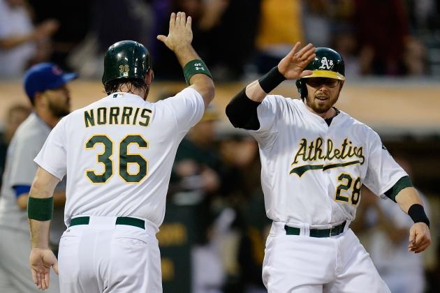 It's D-No-Myte — A's Beat Cubs 8-7 on Norris HR