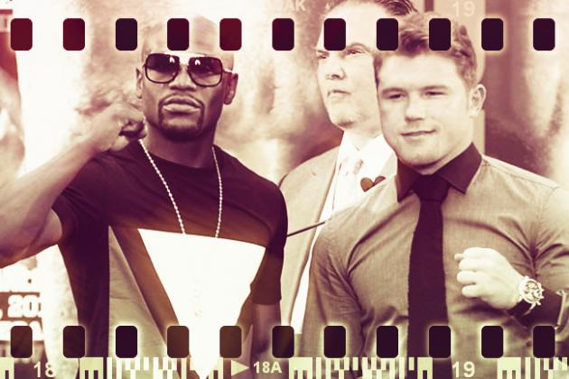 Fan Shaves Floyd Mayweather's and Canelo Alvarez's Faces into Hair