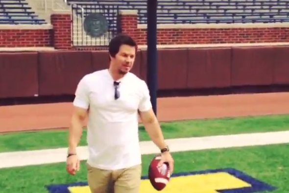 Instagram: Mark Wahlberg Tosses Passes in the Big House