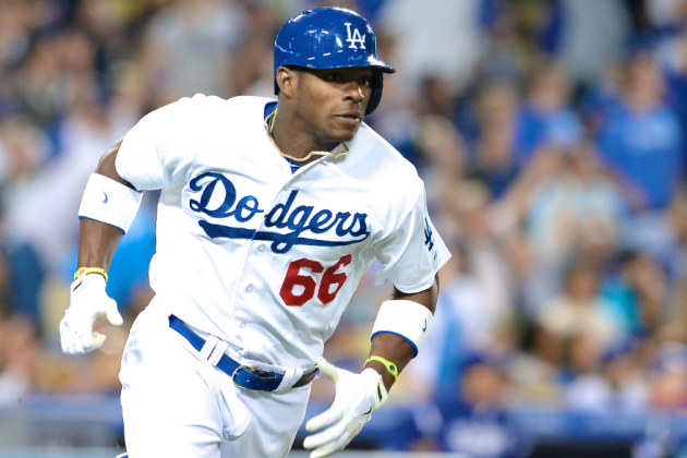 Dodgers' Yasiel Puig Named NL Player of the Month and Rookie of the Month
