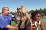 Fox Sports Sideline Reporter Gets Leveled During Interview