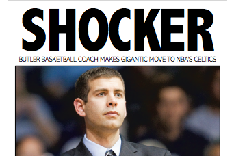 Indy Star's Front Page Cover for Stevens' Hire