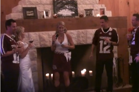 Video: This A&M Wedding Puts College-Themed Weddings to Shame