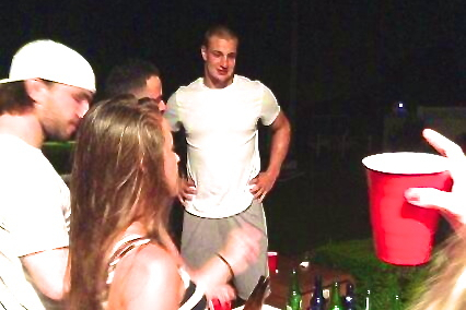 Rob Gronkowski Re-Emerges from Surgery Recovery at Wild 4th of July BBQ