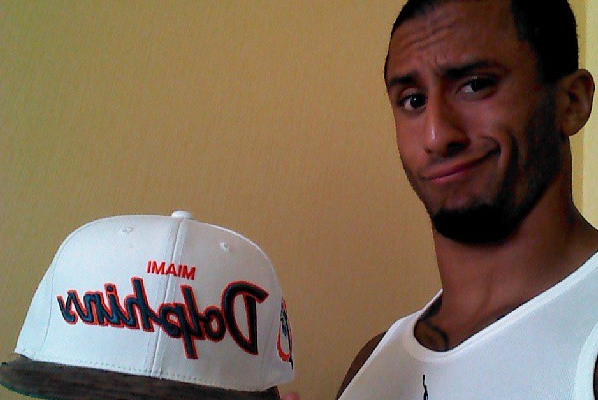 Kaepernick and His Dolphins Hat Asks,